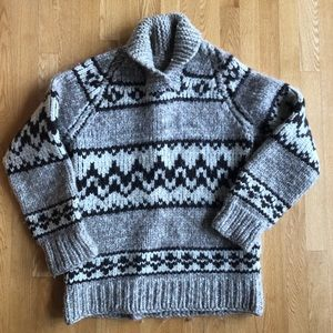 Vintage Authentic Cowichan Pullover Sweater